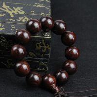 6A印度 小叶紫檀手链  DIY 佛珠手链 散珠 同料顺纹正圆小孔