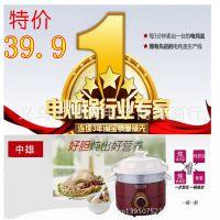 厂家直销正品白瓷电炖锅 小家电慢炖锅 陶瓷煲  支持混批代发零售