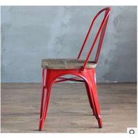 现代loft工业风家具 懒人高靠背餐厅餐椅 户外场所椅子
