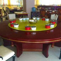 厂家直销 时尚大理石火锅桌定做 小肥羊多人火锅桌椅定做