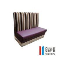 奶茶店餐饮家具,时尚卡座沙发,皮制软包双位沙发,定做到扬韬!