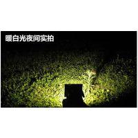 ruocin太阳能灯户外家用景观庭院照明LED泛光灯 超亮防水路灯暖白光代发