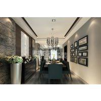 梵客家装7万打造后现代黑白灰二居室|曲院风荷装修效果图