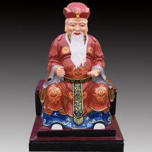 河南云峰佛像雕塑厂批发供应土地公土地婆 贴金彩绘树脂佛像