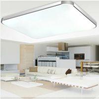 led现代简约吸顶灯卧室客厅餐厅灯长方形温馨大气创意灯具苹果灯