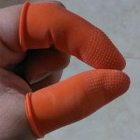 橙色 防滑 颗粒 一次性乳胶 橡胶 耐磨 加厚劳保 工业 批发手指套