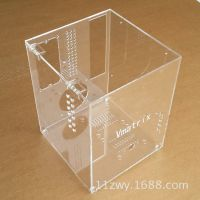 亚克力有机玻璃机箱 电器小机箱 电器透明盒 定位箱定做