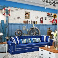小孩卧室背景大型壁画 3D儿童墙纸壁紙 卡通动漫 米老鼠过山车
