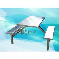 阳江工厂饭堂餐桌椅厂家 4人 6人8人位玻璃钢餐桌价格 不锈钢桌椅耐用康腾体育