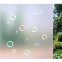 彩色泡泡浴室磨砂窗贴玻璃贴膜窗花纸窗户贴透光不透明贴纸批发