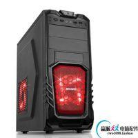 赢派机箱赤焰侧透红色防尘网内部黑化支持大板长显卡背线SSD硬盘