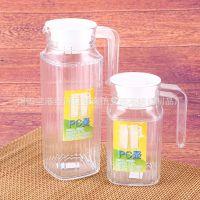 亚克力条纹扎壶 冷水壶 塑料水壶 透明 果汁壶PC凉水壶 洋酒壶