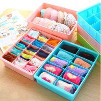 糖果色多格可叠加内衣收纳盒加厚塑料内裤袜子抽屉整理箱 373g