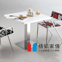 国庆特价 大理石西餐桌/餐厅酒店方形大理石餐桌 款式时尚