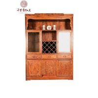 千百年红木 刺猬紫檀家具 古典中式宋代宁静致远系列酒柜
