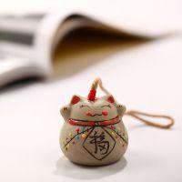 现货混批 招财猫手工彩绘 手编陶瓷风铃 家饰陶瓷特色礼品 小礼品