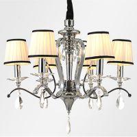厂家供应批发现代简约奢华高档布艺蜡烛 创意客厅灯具卧室吊灯