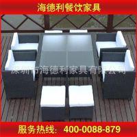 日式餐厅玻璃餐桌椅 日式餐厅多位玻璃餐桌椅厂家定做 优质品