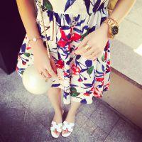 小银子2015夏装新款舒适清凉花朵背心连衣裙Q6279