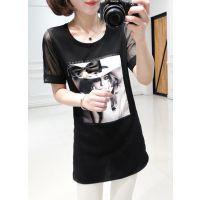 春季女装新款韩版美女修身显瘦短袖T恤打底衫