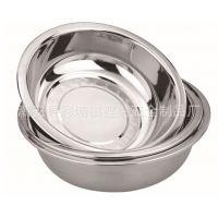 厂家直销 带磁反边不锈钢盆精抛光不锈钢面盆 28-45cm不锈钢脸盆