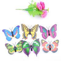 仿真磁铁花蝴蝶点缀卡通花束辅材礼品礼物配饰鲜花包装纸材料批发