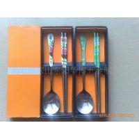 供应韩式卡通餐具,韩式彩盒装礼品餐具,韩式餐具