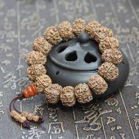 厂家直销 尼泊尔精选 天然五瓣金刚菩提20MM藏式佛珠手链 批发