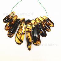 进口树脂琥珀色夸张项链 2色可选 流行时尚款 厂家直销