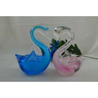 厂家批发精品琉璃天鹅 琉璃工艺品创意摆饰