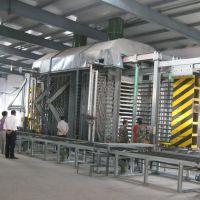 用废弃塑料杂木及稻壳生产木塑模板生产线压制设备青岛国森机械