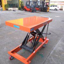 供鑫力佛山标准型(350KG)小平台|脚踏式液压升降台车哪有订做?