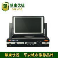 H.264带屏幕硬盘刻录机 7寸屏4路硬盘录像机 网络监控 自带屏幕