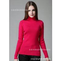杂款高领女毛衣 针织衫 长袖弹力女打底衫 纯色修身毛衣不担保
