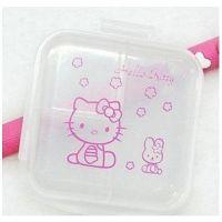 Hello Kitty小药盒 6格透明双层便携药盒 可爱迷你多用途储物盒