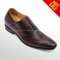 Italy design custome genuine leather mens formal elevator shoes