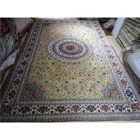供应大量400L真丝地毯 手工 打结波斯 外贸地毯