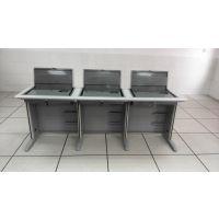 多媒体会议翻转电脑桌 培训桌网络教室电脑桌 学生电脑桌 台式翻转办公桌