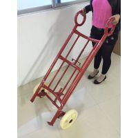 广州四轮拉桶车 铁油桶搬运车 可配尼龙轮/橡胶轮油桶手拉车