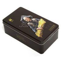 凉山黑苦荞茶铁盒包装 袋泡苦荞铁罐设计 胚芽茶马口铁盒