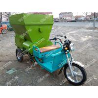 供应猪场电动撒料车 可以抛撒两行的撒料车