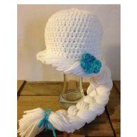 手工编织儿童毛线帽冰雪奇缘热销款 埃尔莎 安娜同款 针织帽