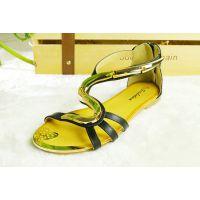 安迪尔新款夏季殴美圆头时尚休闲工艺金属装饰风格女士凉鞋ADR002