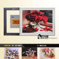 TF欧式装饰画框 推拉式电表箱 遮挡画框 DBX白-6652
