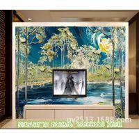 油墨画风格电视背景墙打印机 瓷砖彩绘机厂家直销
