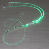 发光耳机 3.5MM接口 带麦克风手机耳塞 可暂停音乐 接听手机