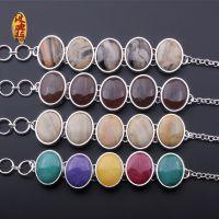 波迪拉 纯天然半宝石 玛瑙 水晶镶嵌合金镀银手链 印度欧美款批发