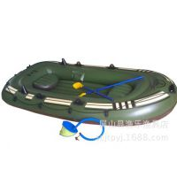 PVC充气船皮划艇钓鱼船 漂流船单人船 双人船 三人 四人船加厚