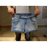 韩版破洞时尚牛仔短裤背带裤低价批发15元一条厂家直销