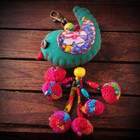 民族风旅游饰品包包挂件 布艺小鸟挂件饰品 动物钥匙链3271